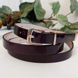 H&M Patent Leatherette Belt in Plum